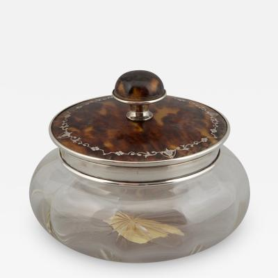 Dresser Jar with Sterling and Tortoise Shell