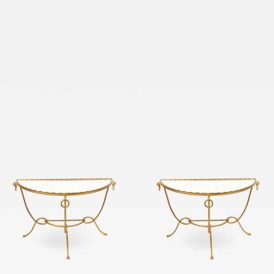 Drouet Gilt Metal Console Tables