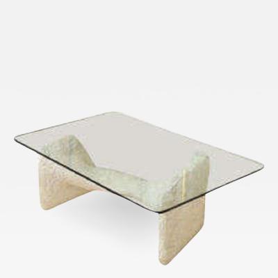 Duck Shin low Table Mid Century Modern Sculptural plaster 1940s