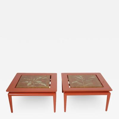 Duilio Barnab Pair of Custom Side Tables with Fontana Arte Tops by DubeDuilio Barnab