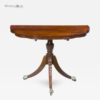 Duncan Phyfe A Classical Mahogany Triple Elliptic Trick Leg Table New York c 1810