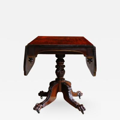 Duncan Phyfe American Federal Black Walnut Drop Leaf Breakfast Table circa 1825