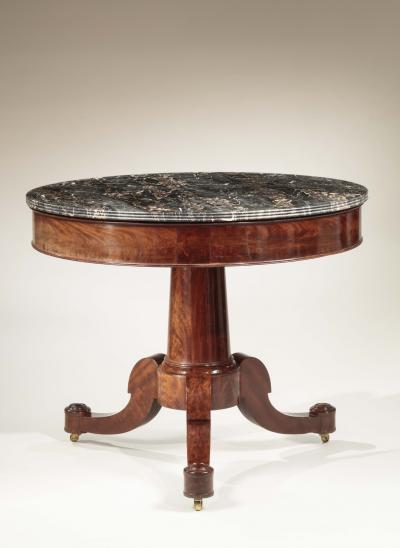 Duncan Phyfe Classical Marble Top Center Table