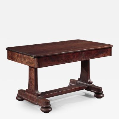 Duncan Phyfe Dining Table with a Trestle Base made by Duncan Phyfe