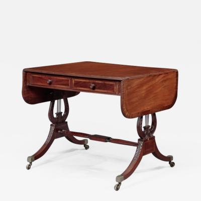 Duncan Phyfe FEDERAL INLAID SOFA TABLE Attributed to Duncan Phyfe