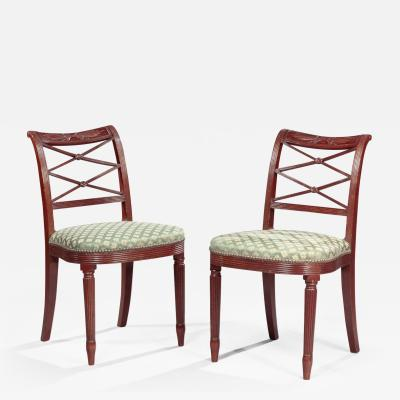 Duncan Phyfe Pair of Federal Side Chairs attributed to Duncan Phyfe
