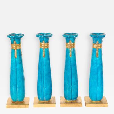 Durant Kilns Set of Four Candlesticks by Durant Kilns