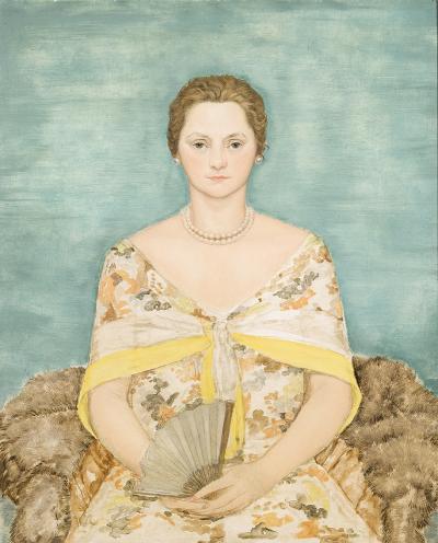 Durr Freedley Woman in Flower Print Dress