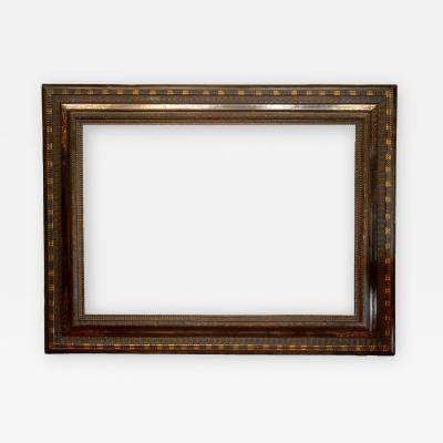 Dutch 17th Century Ebonized Picture Frame 28x39