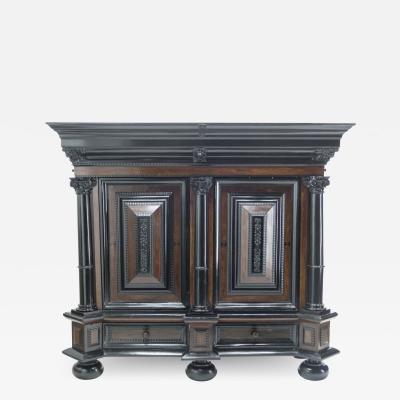 Dutch 17th Century rosewood ebony Baroque cupboard Kussenkast 1670