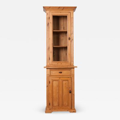 Dutch 19th Century Pine Cabinet Bookcase