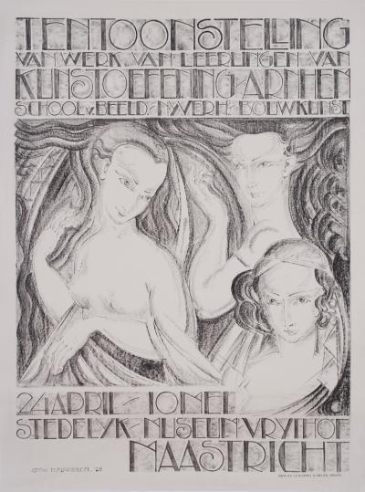 Dutch Art Deco Period Art Exhibition Poster by Klaassen 1926