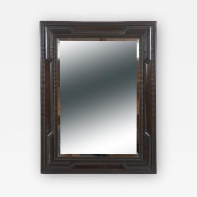 Dutch Baroque Style Burl Walnut Step Mirror 20th Century