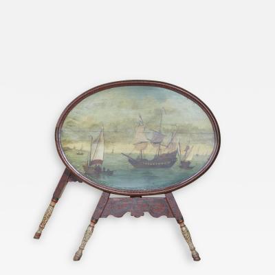 Dutch Folk Art Hindeloopen Table