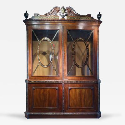 Dutch Grisaille Bookcase