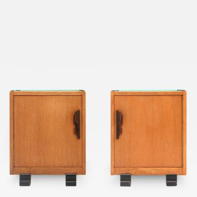 Dutch Pair of Art Deco Nightstands