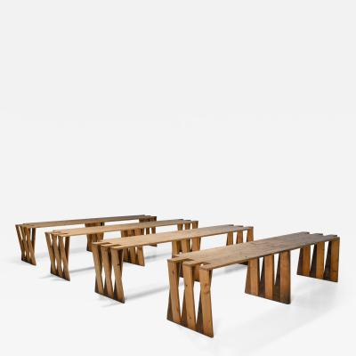 Dutch Pine Modular Puzzle Dining Tables 1950s