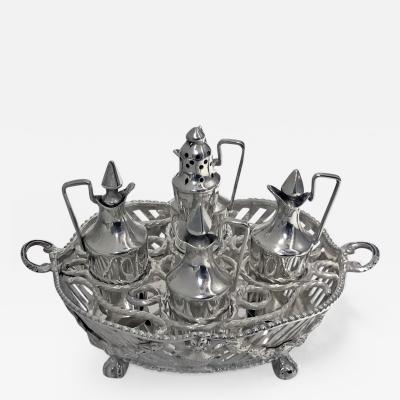 Dutch Silver Miniature Toy Cruet Stamped IO and Circlet 19th Century