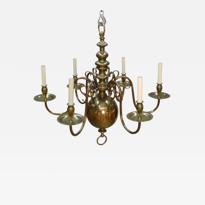 Dutch Style Brass Chandelier