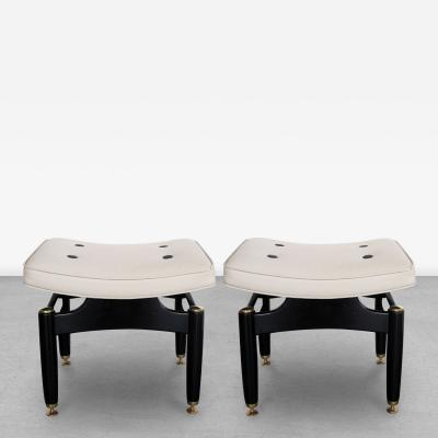 E Gomme Ltd A Pair of English G Plan Ebonized and Leather Benches by E Gomme Ltd