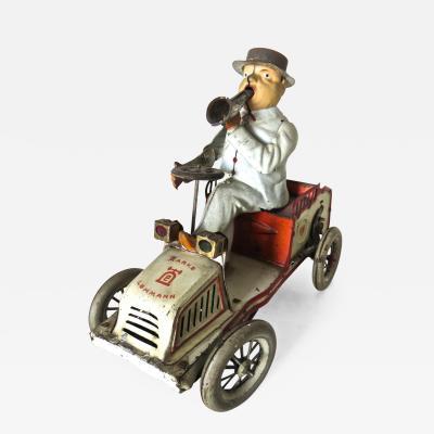 E P Lehman Lehman Tut Tut Clockwork Car with Driver German Patented 1903