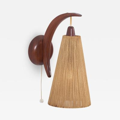 E R Nele Wall Lamp with Cord Shade by E R Nele for Temde Switzerland