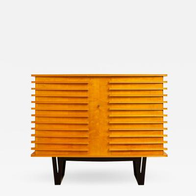 E Verot et R Clement Sycamore Wood Storage Buffet by E Verot and R Clement France c 1940