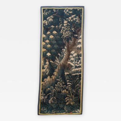 EARLY 18TH CENTURY VERDURE TAPESTRY FRAGMENT AUBUSSON