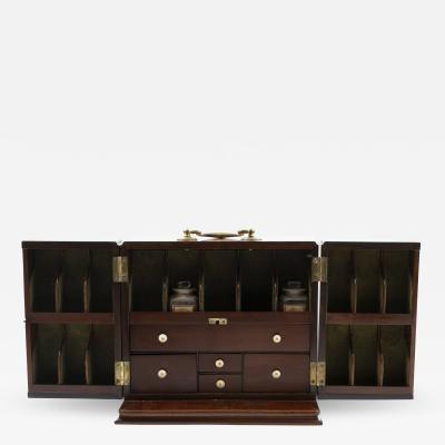 EARLY 19TH CENTURY ENGLISH MAHOGANY TRAVEL APOTHECARY BOX 1810 1820