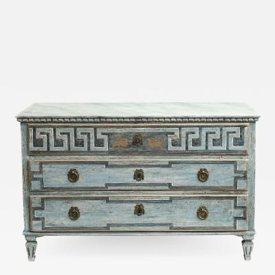 EARLY 19TH CENTURY SWEDISH GUSTAVIAN CHEST OF DRAWERS