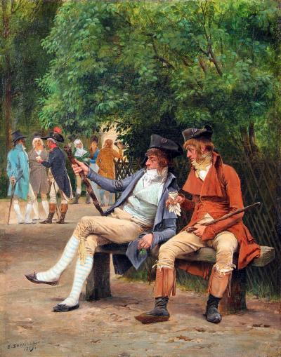 EDOUARD DETAILLE Les Incroyables au Jardin du Luxembourg