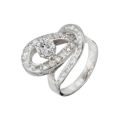 EGL Certified 80 Carat Diamond Open Swirl Platinum Cocktail Ring