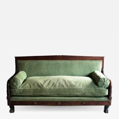 EMPIRE PERIOD MAHOGANY SOFA