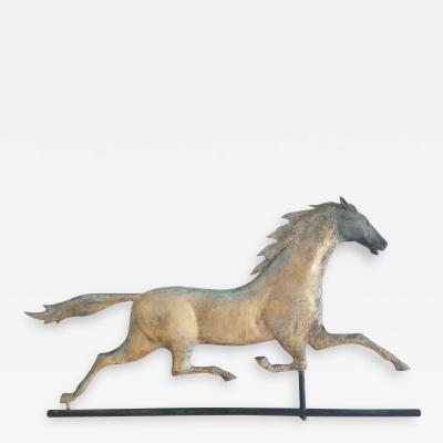 ETHAN ALLEN RUNNING HORSE WEATHERVANE American ca 1880 1890