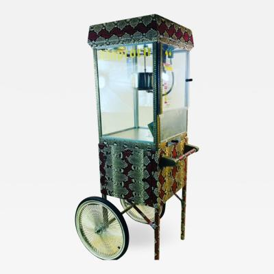 EXCEPTIONAL CUSTOM PYTHON FINISHED POPCORN MAKER CART