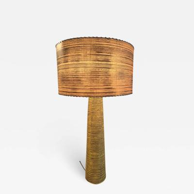 EXCEPTIONAL MODERNIST MID CENTURY STRIPED POTTERY LAMP BY KELBY