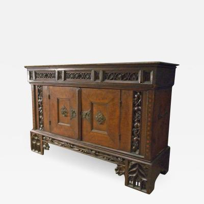 Early 16th century German Gothic Cabinet Sideboard