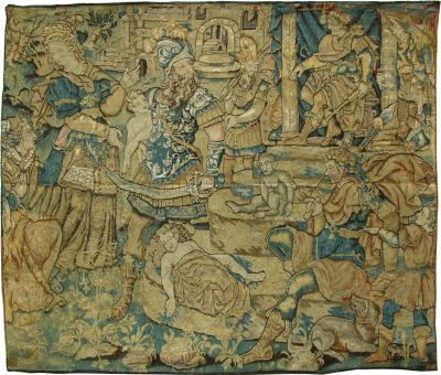 Early 17th Century Antique Baroque European Tapestry