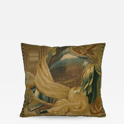 Early 17th Century Antique Brussels Tapestry Pillow