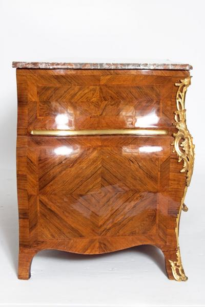 Early 18th Century French Regence Dore Bronze Bombe Commode