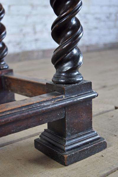Early 18th Century Italian Baroque Small Walnut Center End Table