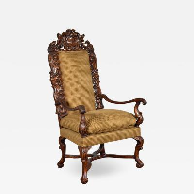Early 18th Century Regence Northern French Flemish Oversized Armchair