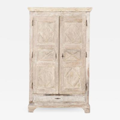 Early 18thC French Rustic Walnut Bleached Armoire