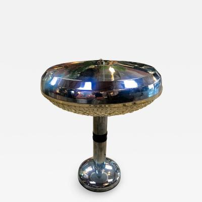 Early 1970s Polished Chrome Table Lamp Italy
