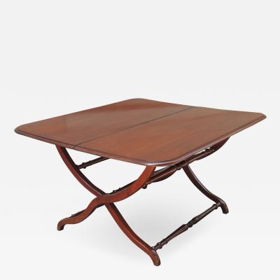 Early 19th C Caribbean British Colonial Campaign or Coaching Table