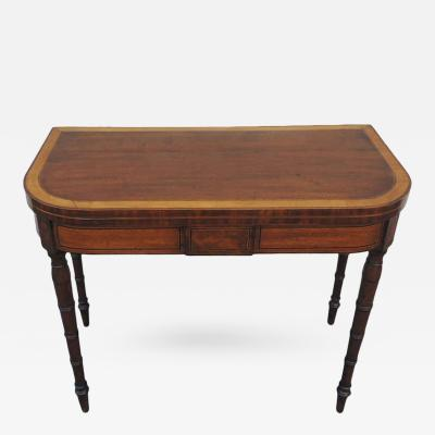 Early 19th C English Neoclassical Card Table