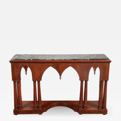Early 19th C French Charles X Mahogany Console