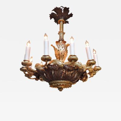 Early 19th C French R gence Bronze Dor Chandelier