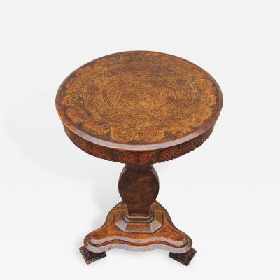 Early 19th C Spanish Walnut Tilt Top Table