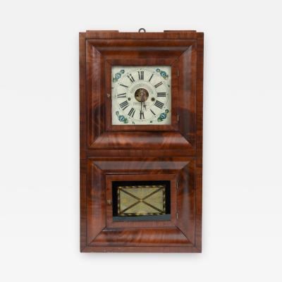 Early 19th Century American Bristol Walnut Case Wall Clock
